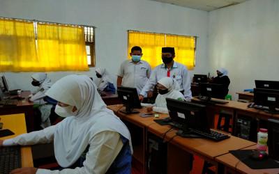 Monitoring Simulasi ANBK Tahap I Di MTs Annur, Kasi Penmad Berharap Ini