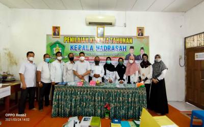 MTs Annur Gelar Visitasi Penilaian Kinerja Kepala Madrasah (PKKM) Tahun 2021