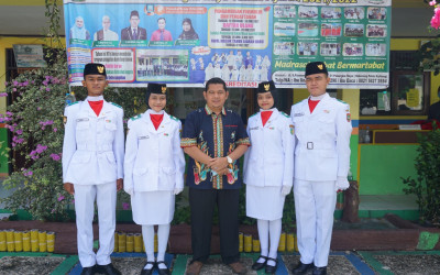 Bangga, 4 Alumni MTs Annur Jadi Pasukan Pengibar Bendera Pusaka Kota Palangka Raya