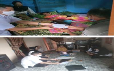 Kamad dan Guru MTs Annur Kunjungi Siswa Yang Mengalami Musibah Kecelakaan
