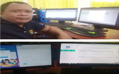 Sukseskan Simulasi  I ANBK,  Proktor MTs Annur  Singkronisasi Server