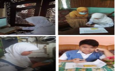 MTs Annur Gelar Ujian Madrasah Berbasis Online (UMBO) Dari Rumah